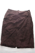 Classiques Entier 100% Leather Knee Length Suede Skirt Dark Brown 8 Nordstrom