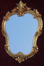 Specchio Muro Oro Antico Ovale Retrò 50x35 Vintage Barocco Bagno C444G