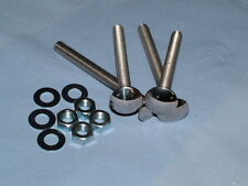 "Stainless Steel Bumper Bolts,Capri,Escort, Cortina etc 3"" Long(Pack 4)"