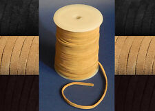 3mm 4mm 5mm 6mm FLAT SUEDE 100% REAL LEATHER CORD THONG LACE CRAFT HIDE  STRING