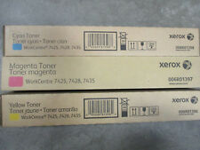 6R01396/97/98 Genuine Xerox Magenta,Yellow,Cyan Set Toner Cartridge OEM