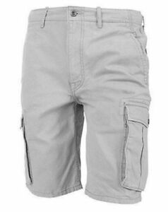 Levi's Men's Premium Cotton Ace Twill Cargo Shorts Relaxed Fit Gray 124630020