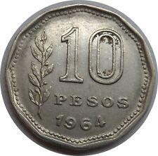 Argentinien 10 Pesos 1964 @2