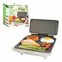 Nutri-Q Non Stick Fold Out Electric Multi Grill and Griddle, 1000 W, Grey