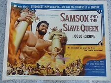 SAMSON AND THE SLAVE QUEEN 1964 ORIGINAL 22X28 ROLLED PIERCE BRICE MOIRA ORFEI