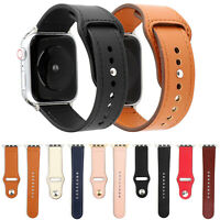 Genuine Leather Strap for iWatch Apple Watch 5 4 3 2 Band Loop Bangle Bracelet