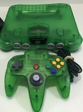 Jungle Green Nintendo 64 Console And Controller w/Power Adapter N64 OEM