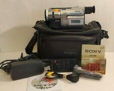 Sony Handycam DCR-TRV103 Digital8 Camcorder w/ Bag, Tape, Charger,Remote & Xtras