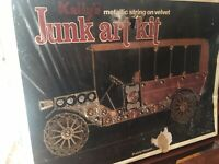 Paddy Wagon, Kelly's Metallic String on Velvet Junk Art Kit, 1977 Unopened As Is