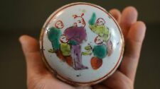 Fine Early 1900 Chinese Famille Rose Porcelain Paste Box