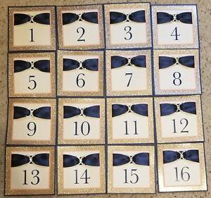 Wedding Table Numbers 1-16