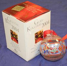 Hutschenreuther Weihnachtskugel Glas 2004 Kristall Kugel OVP Motiv Norwegen