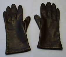 c174ddd7f55a8 FOWNES VINTAGE WOMEN'S DARK BROWN LEATHER GLOVES - ACRYLIC LINING - SIZE 8