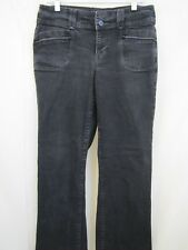 Bandolinoblu Womens Black Jeans Size 10 Petite Bootcut  Leather Strip On Pockets