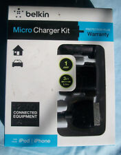 Belkin iPhone iPod Micro Charger Kit for Home & Auto
