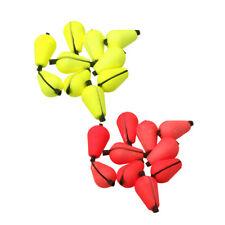 "tear drop shaped medium 1//2/"" red fly fishing strike indicators Six 6"
