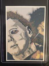 Halloween Michael Myers Sketch Card Sticker Print Artist Tony Keaton