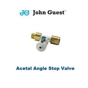 "John Guest Winkel-Absperr-Ventil mit Rückschlag-Ventil 1/2"" 3/8"" 1/4"""