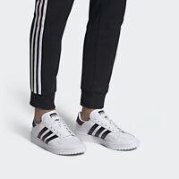 men adidas team court white shoes uk 11 eur 46