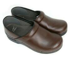 Dansko WOMEN'S Brown Leather Comfort Nursing Clogs Size 39 EUR