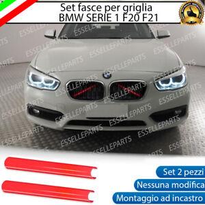BMW SERIE 1 F20 F21 COVER RADIATORE GRIGLIA AD INCASTRO NO ADESIVO COLORE ROSSO