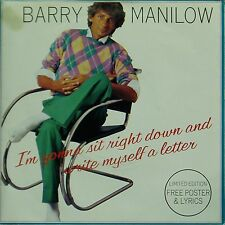 "BARRY MANILOW 'I'M GONNA SIT RIGHT DOWN' UK 7"" SINGLE IN POSTER SLEEVE"