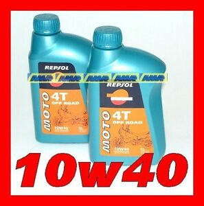2 LITRI OLIO REPSOL 4t Off Road 10w40 MA2 100% synthetic    2 lt  2litro