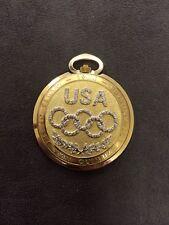 Longines 14K Gold 1984 Los Angeles Olympics Edition Pocket Watch With Diamonds