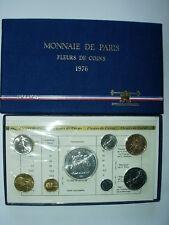 COFFRET 1976 FRANCE MONNAIE DE PARIS FLEUR DE COIN FDC BU 50 Fr HERCULE Argent R