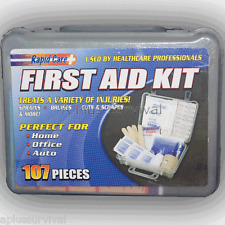 107 Piece First Aid Camping Hunting Survival School Work Office Emergency Kits