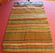 Antique Carpet Bag Hand Woven Civil War Erie Canal 1838 Provenance Suitcase Vtg