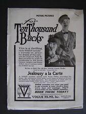Movie Letterhead Mutual Film Corp 1916 For Ten Thousand Bucks Ben Turpin