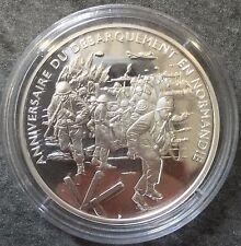 Médaille Argent anniversaire débarquement Normandie Silver 20,00 gr Militaire