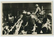 The Liberation of Paris American Troops Real Photograph WW2 Postcard R3