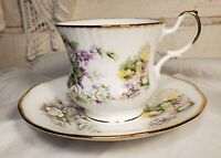 Vintage Tea Cup & Saucer Set Made in England - Queen's by Rosina Fine Bone China