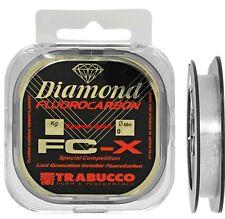 MONOFILO PESCA DIAMOND FC-X FLUOROCARBON SIZE 0,245 MM TRABUCCO LINE 50 MT
