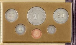 """1978 Singapore Mint """"Year of the Horse"""" 6 Coin Set in Original Vinyl Sleeve Nice"""