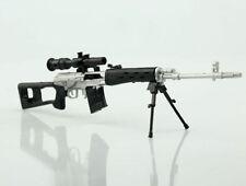 SVD Sniper Rifle Plastic 1/6 DIY Weapon Model Military Solider Gun Toy Display