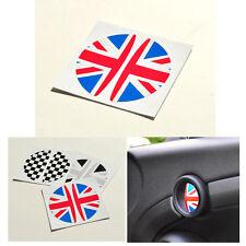 2pcs Union Jack UK Door Handle Logo Stickers Decals For Mini Cooper 2001-2013