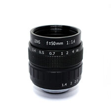 Camera Lens 1MP Focal Length 50mm F1.4 C Mount FOV 14° Format 2/3""