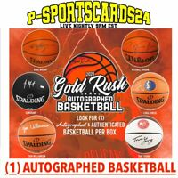 2020 GOLD RUSH AUTO AUTOGRAPHED NBA FULL SIZE BASKETBALL LIVE BOX BREAK #3670
