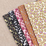 A4 Leopard Glitter Synthetic Artificial Leather PU Fabric DIY Handmade Craft