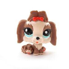 Littlest Pet Shop Lhasa Apso Dog #2130 Lps Red Bow Blue Eyes Usa Seller