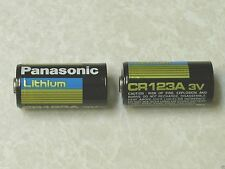 100 PANASONIC CR123A 123 SF123A BATTERY CR123 LITHIUM 1550 mah PHOTO  BLK