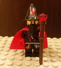 Lego NEW Castle Kingdoms Evil Dragon Wizard Minifig w/ Brown Staff And Red Jewel