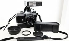 VINTAGE MINOLTA XD5 35mm Pellicola SLR CAMERA KIT CON OBIETTIVO, Flash, Avvolgitore & Extra