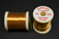 1 Spool, # 163  GOLD  Danville's Acetate Floss, 900 Denier, 10 yards