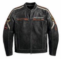 Nuevo Hombre Negro Harley Davidson Chaqueta de Cuero Motero Café Racer Retro