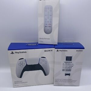 Sony PlayStation 5 PS5 Accessories Bundle Controller Charger Media Remote NEW
