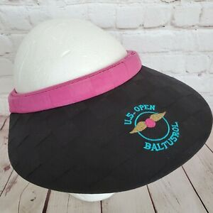 Vintage 1993 US OPEN Baltrusol VISOR Pink Black Golf 90s